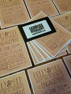 Engagement invitations - www.leonnee.com