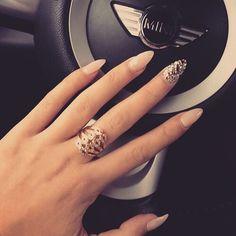 A nail art 2000 pins peacock nail art pinterest nail nude nails with bling prinsesfo Choice Image
