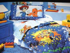 Digimon  Bedding and Bedroom Decor  I HAD THIS WHEN I WAS YOUNGER!!! I WANT THIS!
