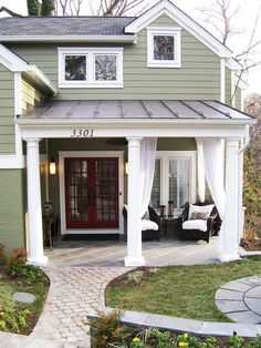 7 Costly Home Improvement Don'ts Don't Get the Wrong Style Window in Stylish Laundry Rooms From HGTV Dream Home, Green Home and Urban Oasis from HGTV House Colors, New Homes, Exterior Colors, Exterior Design, House, Curb Appeal, House Painting, House Paint Exterior, House Exterior