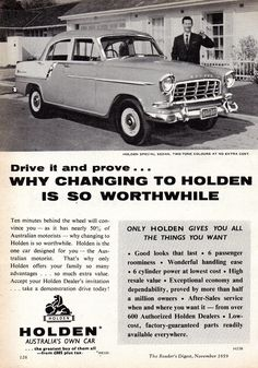 Original Car and Automotive Advertisements Published in Australia in 1959 Classic Cars British, Classic Car Show, Old Classic Cars, Triumph Motorcycle Clothing, Triumph Motorcycles, Thruxton Triumph, Vintage Motorcycles, Holden Australia, Classic Car Restoration