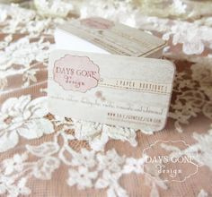 Romantic Lace Business Cards  Shabby Chic  by DaysGoneDesign