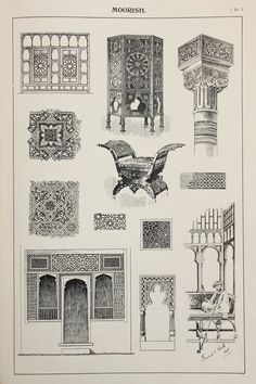 Moorish Furniture Designs Large Antique Black & by PaperPopinjay
