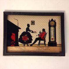 Vintage Framed Salesman's Sample Silhouette by EBSVintageHome