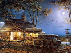 Master Artist : Terry Redlin Paintings  - Autumn Traditions - Terry Redlin  Heartwarming Paintings 1600*1200  5