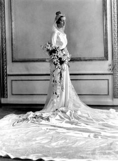 Still the most beautiful royal wedding gown; Queen Ingrid of Denmark, princess of Sweden