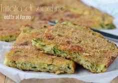 Frittata di zucchine Light, cottura al forno, secondo piatto leggero e gustoso con pochissime calorie. Ricetta ideale come Finger food, picnic,