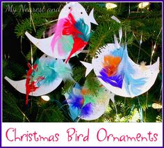 Christmas Bird Ornaments. A great craft for toddlers. My Nearest and Dearest.