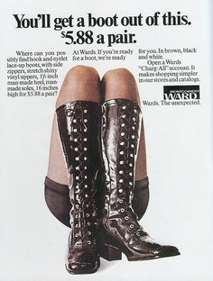 Ward's had surprisingly awesome shoes in the 70's.  I would have killed for these boots.