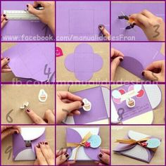 Image about fashion in ideas by pili fanelli on We Heart It Fun Crafts To Do, Diy Arts And Crafts, Handmade Crafts, Diy Paper, Paper Crafts, Craft Tutorials, Scrapbook Cards, Scrapbooking, Diy Cards