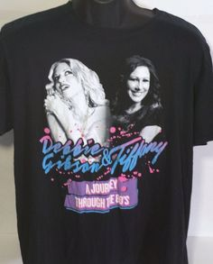 Debbie Gibson & Tiffany A Journey Through The 80s Concert Mens Large T Shirt #Gildan #GraphicTee