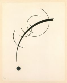 Free Curve to the Point - Accompanying Sound of Geometric Curves by Vasily Kandinsky, Modern and Contemporary Art Rogers Fund, 1970 Metropolitan Museum of Art, New York, NY Medium: Ink on paper Wassily Kandinsky, Abstract Words, Abstract Art, Abstract Landscape, Modern Art, Contemporary Art, 1 Tattoo, Art Graphique, Art Plastique
