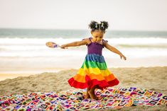 2 year old photo shoot baby girl colorful dress beach photo session ideas