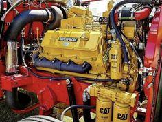Peterbilt 359, Peterbilt Trucks, Semi Trucks, Big Trucks, Cat Engines, Truck Engine, Mechanical Engineering, Vintage Trucks, Diesel Engine