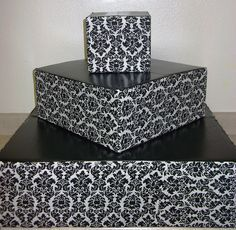 black & white cupcakes cupcake stand wedding reception by Lady-Cakes, via Flickr