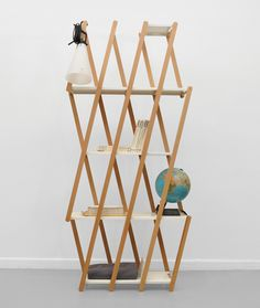Set shelving by Stephanie Hornig.