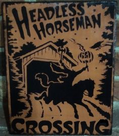 Primitive Sleepy Hollow Sign Headless Horseman Crossing New York Halloween Decorations Pumpkin Patch Hayride Horses signs crow custom autumn Cute Halloween Costumes, Halloween Signs, Halloween Items, Couple Halloween, Halloween Horror, Halloween Crafts, Halloween Queen, Halloween Dinner, Halloween Pictures