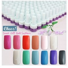 """All-I-Want"" Series Cheez! Soak-off Color UV Gel Polish CODE: Cheez!_All-I-Want. Product includes: ""All-I-Want"" Series Soak-off Color UV Gel Polish x 12 Free Gift : 36W UV Gel Curing Lamp with 4 lamp bulbs x 1 Product descriptions: 100% Brand new in retail package ""All-I-Want"" Series Soak-off Color UV Gel Polish x 12 Brand : Cheez! by BEAUTIES FACTORY Each bottle : ~ 0.5 FL.Oz. / 15 ml Cheez! provides the strongest collection of Soak-Off UV Polish. It offers the widest color range for..."
