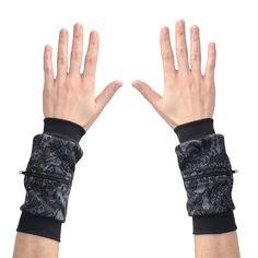Wrist Zips   Wrist Wallet   Black/Grey Lace