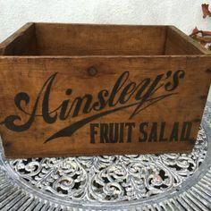 #Vintage #wooden crate ainsleys fruit circa #1920's storage kitchen,  View more on the LINK: 	http://www.zeppy.io/product/gb/2/201709239722/