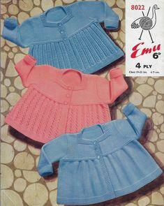 Sweater Knitting Patterns, Knit Patterns, Crochet Pattern, Knit Crochet, Baby Patterns, Vintage Patterns, 4 Ply Yarn, Cable Sweater, Vintage Knitting