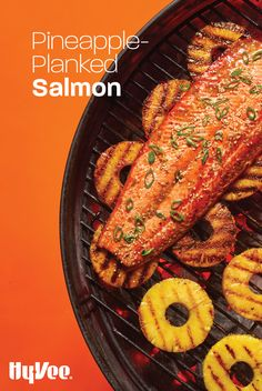 Easy healthy dinner alert! Add additional sweet and smoky flavor to your salmon by grilling it over pineapple slices.