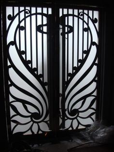 Per square foot. Exceptional Doors - Hand Crafted in 12 Gauge Wrought Iron by Monarch Custom Doors Beautiful wrought iron doors include operable double pane insulated glass pattern of your choice door color of your choice and many other custom options.