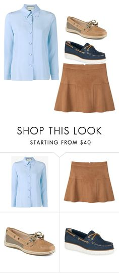 """""""Dress Day"""" by sophiad3 on Polyvore featuring Gucci, MANGO and Sperry"""