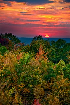 Great autumn colors and awesome sunset... Beautiful!