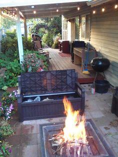 Bench Deck Box In Brown. Deck BoxHome DepotDecksBenchesPatio