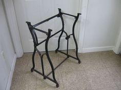 Antique Industrial Cast Iron Table Legs Wheeler Wilson Sewing Machine Base    #industrial #wheelerwilson