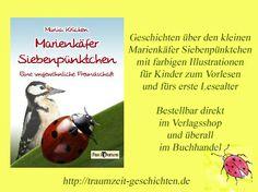 Zaubere ein Lächeln auf das Gesicht deines Kindes mit dem Buch Marienkäfer Siebenpünktchen: Eine ungewöhnliche Freundschaft http://www.pax-et-bonum.net/buecher-themen/kinder-a-jugendbuecher/44-ms