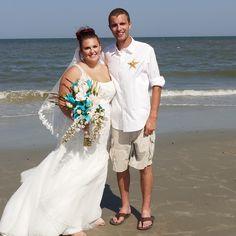 CONGRATULATIONS Andrew and Alli!!! #stephenpalmerweddings #tybeeisland #beachwedding