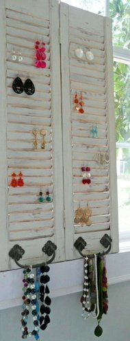 window shutter earring holder