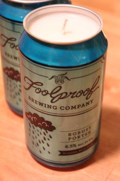 Foolproof Brewing Company Beer Can Candle.  by SpindriftSoapCo, $12.00