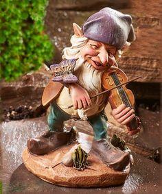 Fiddler Gnome Figurine   zulily