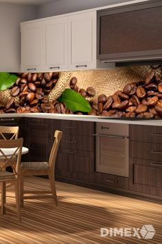 Kuchynská fototapeta - káva   DIMEX Kitchen Cabinets, Home Decor, Decoration Home, Room Decor, Cabinets, Home Interior Design, Dressers, Home Decoration, Kitchen Cupboards