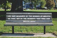 park bench quote