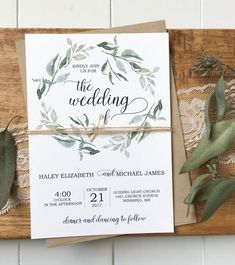 Eucalyptus Wedding Invitation Rustic Wedding Invitation & Etsy The post Eucalyptus Wedding Invitation, Rustic Wedding Invitation, Greenery Wedding Invitation, Botanical Invitation, Rustic Greenery Invitation appeared first on Wedding. Lace Invitations, Green Wedding Invitations, Wedding Invitation Envelopes, Watercolor Wedding Invitations, Custom Wedding Invitations, Wedding Stationery, Invitation Suite, Event Invitations, Invitation Cards