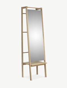 "Push designed by Stine Hedelund for Skagerak, ""mirror function, shelf and wardrobe in one"""