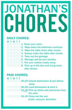 I love the idea of daily unpaid chores and paid chores  I do not think kids should be paid for doing their part in the family...however if you go above and beyond I am all for it!
