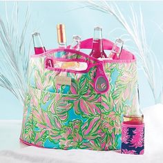 Cold drinks and a bonus Lilly Pulitzer bottle opener sound like a great start for a perfect day on the beach... Just don't forget the sunscreen! #shoplocal #summer #grandhaven #beachday #lillypulitzer #lilly