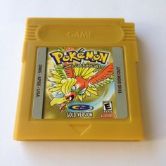 Pokemon Gold Handmade Repro Cart for Nintendo Gameboy Color by retrobun on Etsy https://www.etsy.com/listing/468787482/pokemon-gold-handmade-repro-cart-for