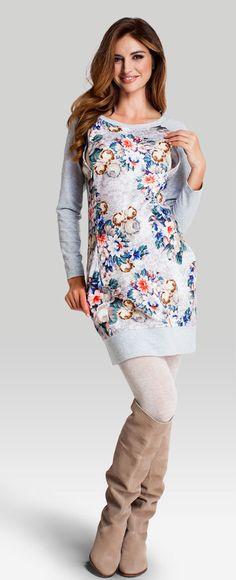 Одежда для беременных, Flo dress хлопковое платье в цветочный узор для…