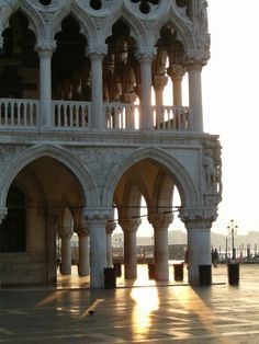 Venezia...  I am aching to return! Sat at that second column to sketch the loggia.