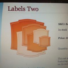 Spellbinders Nestabilities Labels Two
