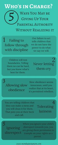 Parenting tips, quotes and memes Who's in Charge? 5 way you may be compromising your own authority as a parent. Infographic linked to full post. Gentle Parenting, Parenting Advice, Parenting Humor, Kids And Parenting, Parenting Classes, Peaceful Parenting, Foster Parenting, Parenting Styles, Christian Parenting