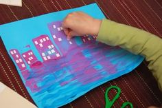 city silhouette painting