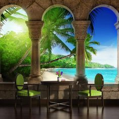 1000 images about murals on pinterest wall murals for Beach view wall mural