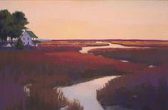 Day's End, Pastel Painting, Jackie Jouvenal, Landscape